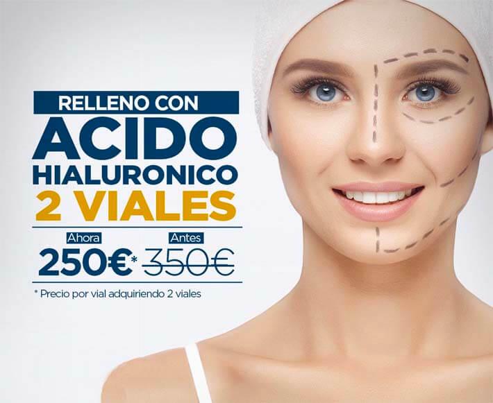 oferta relleno facial con ácido hialurónico